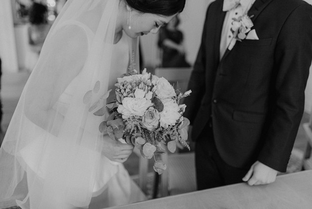 Detailfoto Braut und Bräutigam