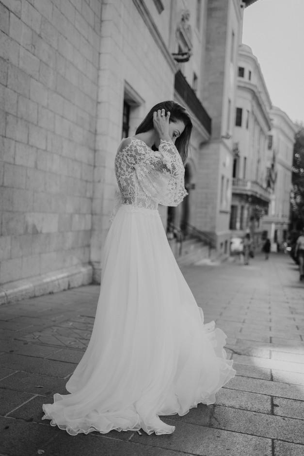 Portrait Braut im Hochzeitskleid