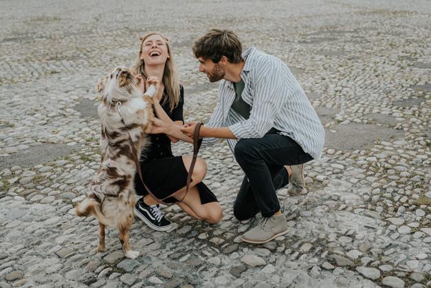 Paarbilder mit Hund am Odeonsplatz