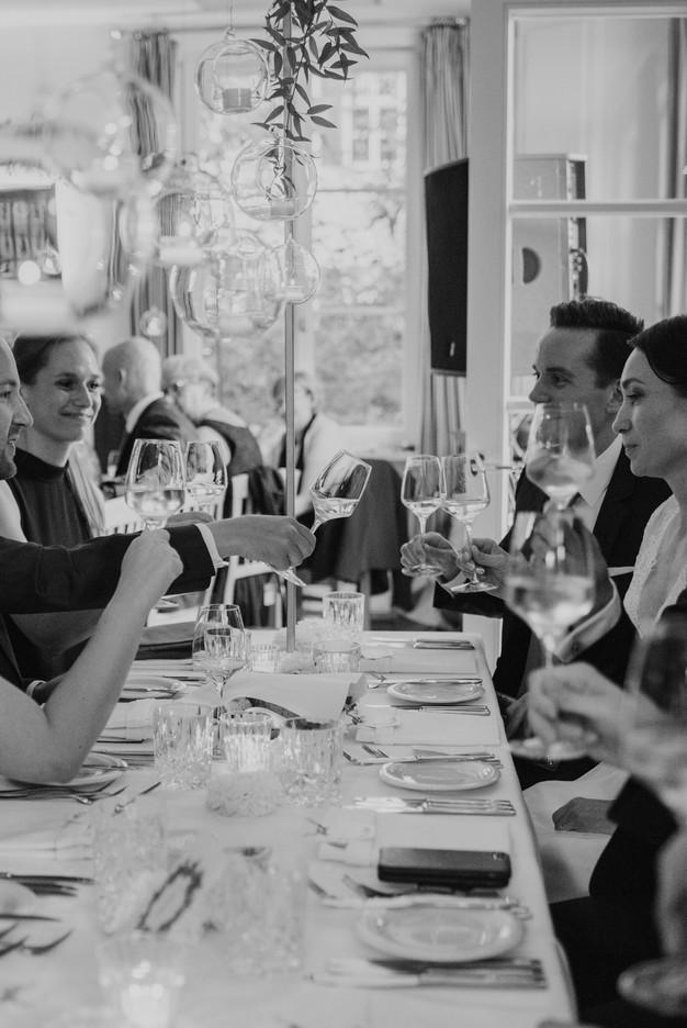 Abendessen auf Hochzeit in München