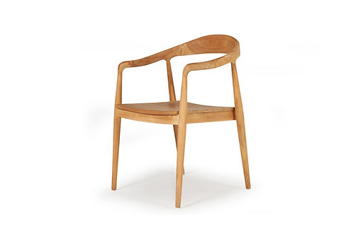 Rigby Dining Armchair - Solid Teak Frame - Natural - rr$399