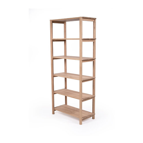 Iluka 6-Shelf  Bookcase - Solid American Oak - RR$1999