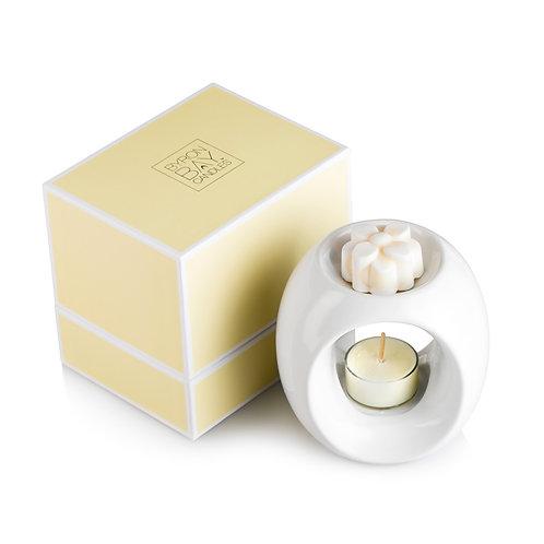 Ceramic Oil Burnerw' Soy Candle Melt - Boxed Gift Set