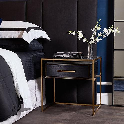 Bronx Queen Bedhead - Black Linen - RR $1495