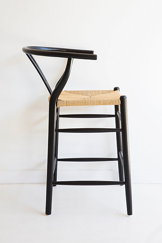 Wishbone Counter Stool - Solid Oak - Black/Natural was $350