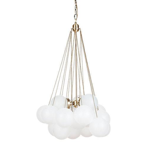 Cloud Pendant - Gold/Frosted White - 71cm Diameter -RR $1199