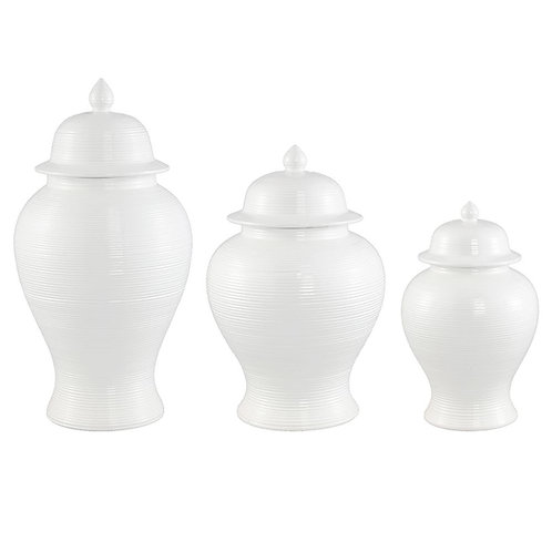 Salvador Ceramic Temple Jar - White - Sm Med Lge - RR from $199 - $329