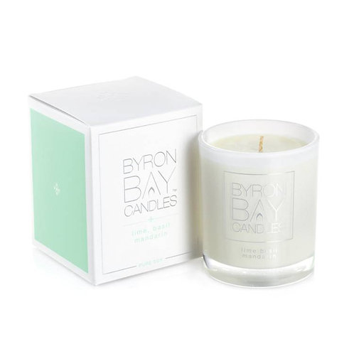 Scented Pure Soy Candle Jar - Lime Basil Mandarin 50 hour