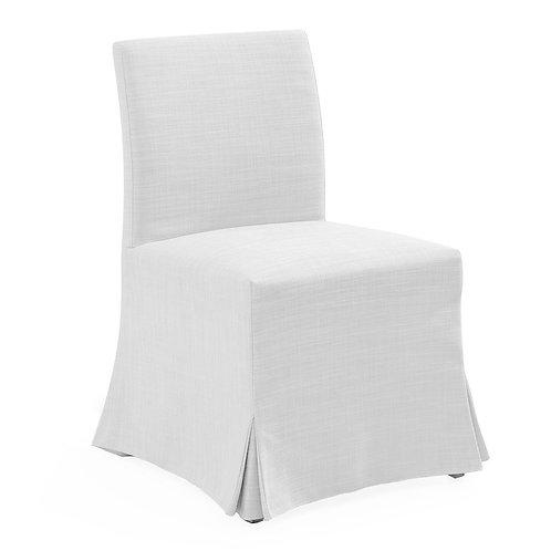 Brighton Slip Cover Dining Chair - White Linen - rr$795