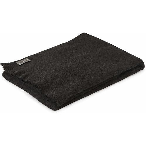 Alpaca Pure Wool Knee Rug/Throw BLACK (charcoal) 91x122cm