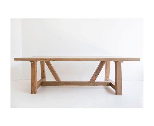 Reclaimed Teak Dining Table - 250cm  wide - rr $2999