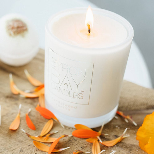 Scented Pure Soy Candle Jar - Sandalwood Vanilla 50 hour