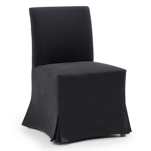 Brighton Slip Cover Dining Chair - Black Linen - rr$795