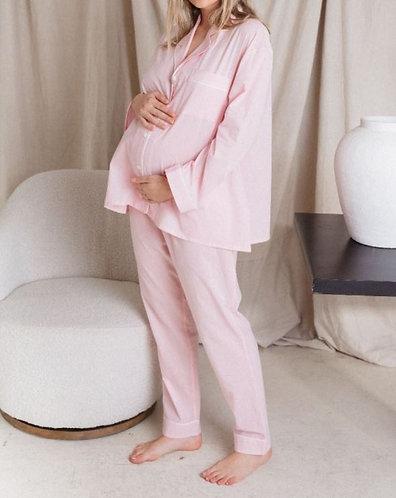 Maternity 'Grow With You' Sleep/Lounging Set - Parfait Pink