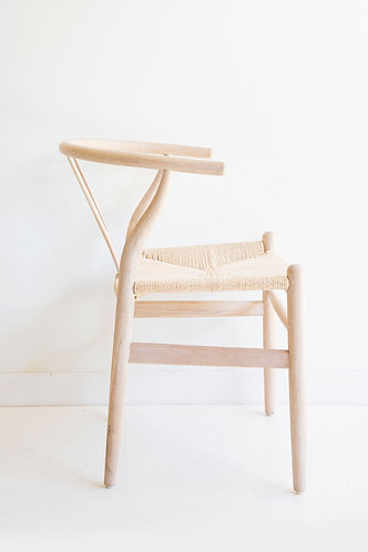 Wishbone Dining Chair - Solid Oak - Coastal Oak White Oil/Natural