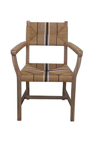 Sabai Woven Dining Armchair - Solid Teak - Natural - rr $499