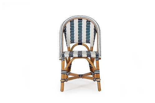 Kids Sorrento Dining Play Chair - Navy/White Stripe - rr $199