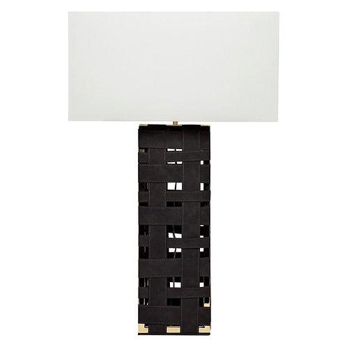 Bennett Woven Base Table Lamp - Black/Gold/White Shade - RR $615