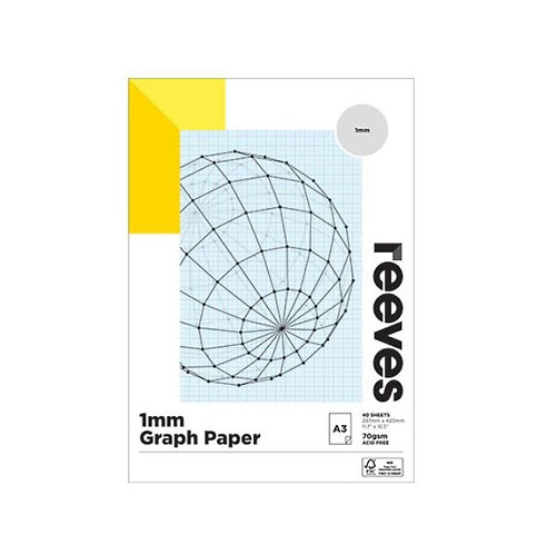 Graph Paper Pad - A3 - 70 gsm - Acid Free