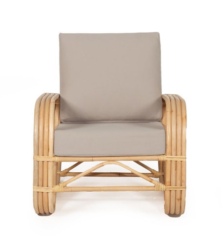 Abide Pretzel Armchair - Grey w' Solid Sustainable Rattan Frame was $799