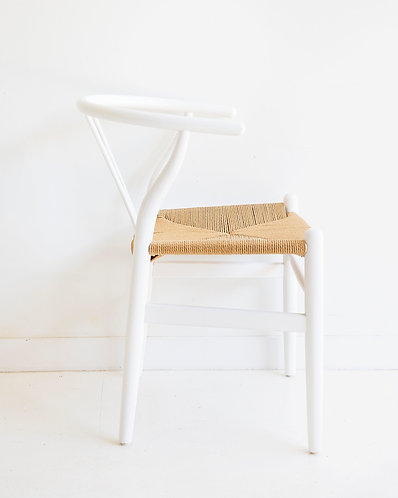 Wishbone Dining Chair - Solid Oak - White