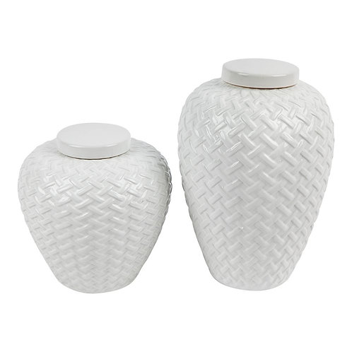 Mya Temple Jar - White - S, M - RR from $150
