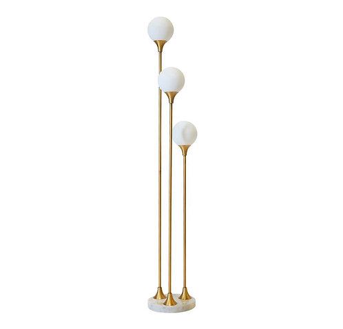 Free Floor Lamp - Marble/Brass/White Glass - RR$636