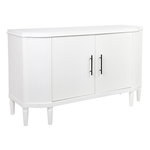 Arielle Buffet - Ribbed Timber Detail - White - 140cm  wide - rr $2449