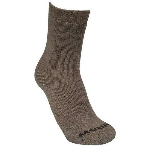 Mohair/Merino Wool Boot-Hiking Sock - Light Fawn Size 4-7