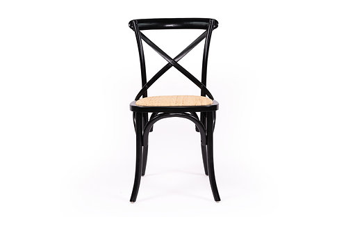 Cross Back Dining Chair - Solid Birch Frame - Black/Natural - rr $199