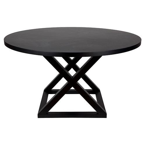 Deccan Dining Table - Black - 140cm  diameter - rr $1640