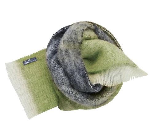 Alpaca Scarf - Forest - Moss Green/Coal/Cream