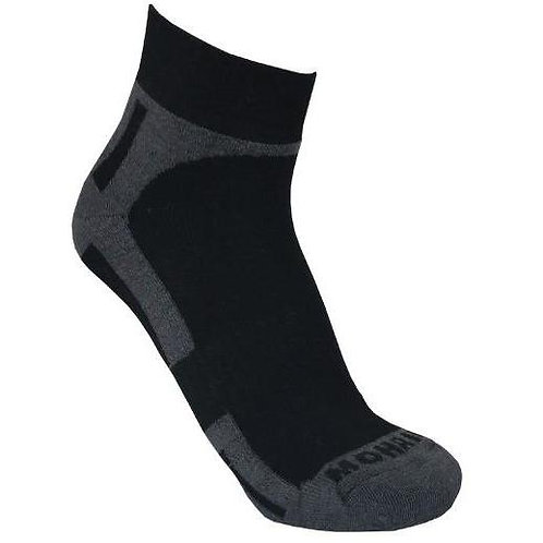 Mohair/Merino Wool Bamboo Cotton Sports Sock - Charcoal Size 8-11