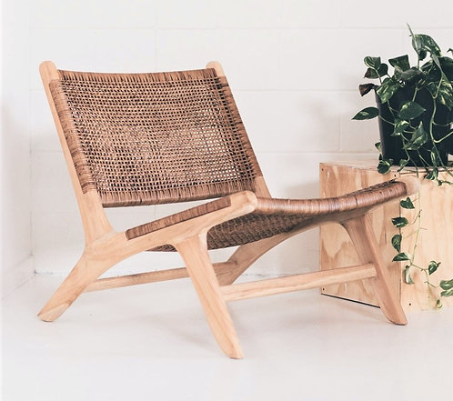 Zen Occasional Chair - Solid Teak/Natural Cord Caning