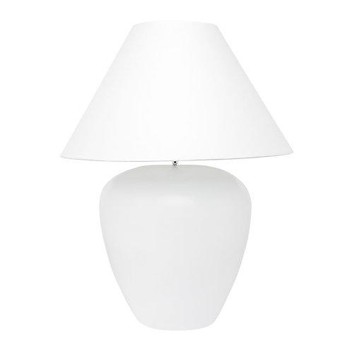 Picasso Handmade Lamp - White w' White Shade - 56cm High - RR$549