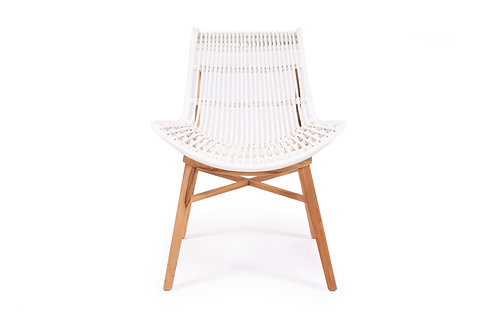 Jules Dining/Occasional Chair - Solid Sustainable Teak/Rattan was $349