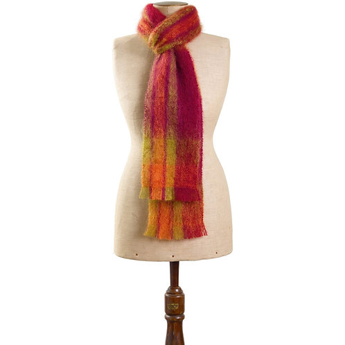 Mohair Scarf - Natural - Madison 16x230cm - RR $80