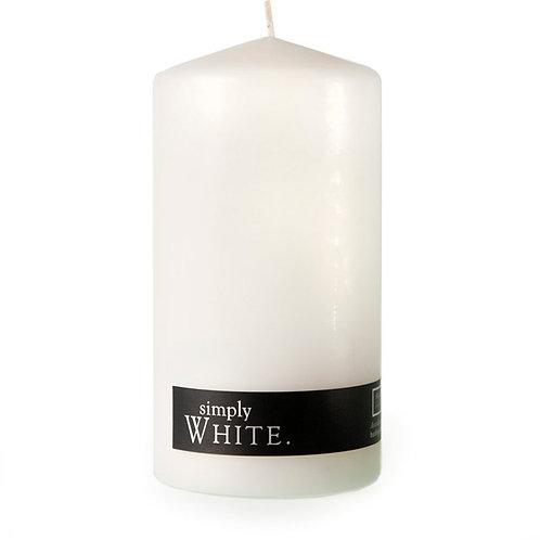 WHITE PILLAR CANDLE - Orange/Vanilla/Spring Blossoms - 2Pack - 90hr each - 7.5x