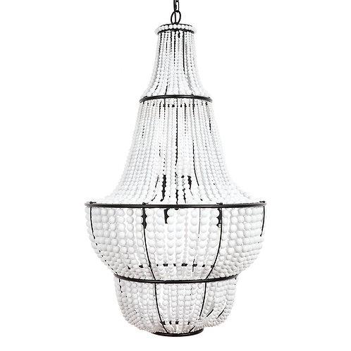 Sierra Beaded Pendant - Black/White -65x105cm high RR $2999