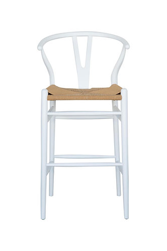 Wishbone Counter Stool - Solid Oak - White/Natural was $350