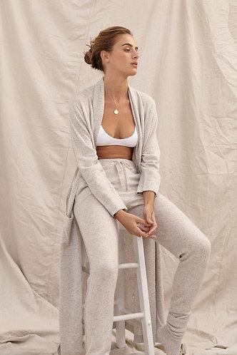 Fine Cashmere/Wool Long Cardigan - Grey Marle - Std 8-16 RR $399