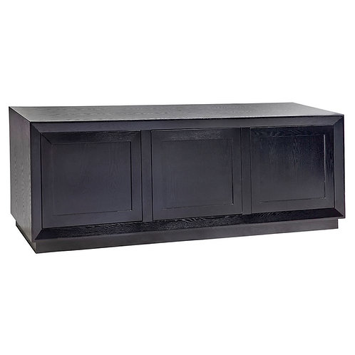 Balmain Oak Buffet - 3-Door - Black - 150cm Wide - RR $3189