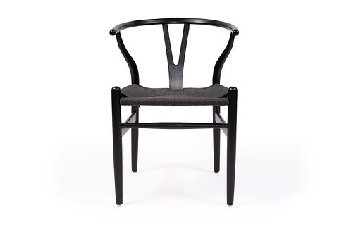 Wishbone Dining Chair - Solid Beech - Black/Black