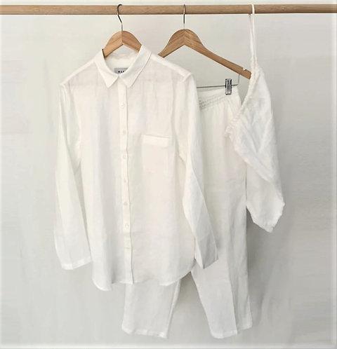 Soft Linen Pyjama Set - Off White