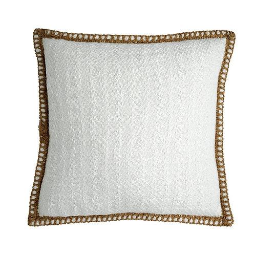 Bawa Woven Cushion - White / Natural - 50x50cm