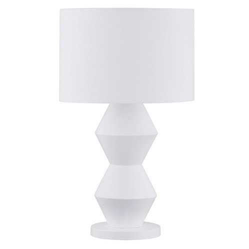 Abstract Table Lamp - White/White Shade - RR $239