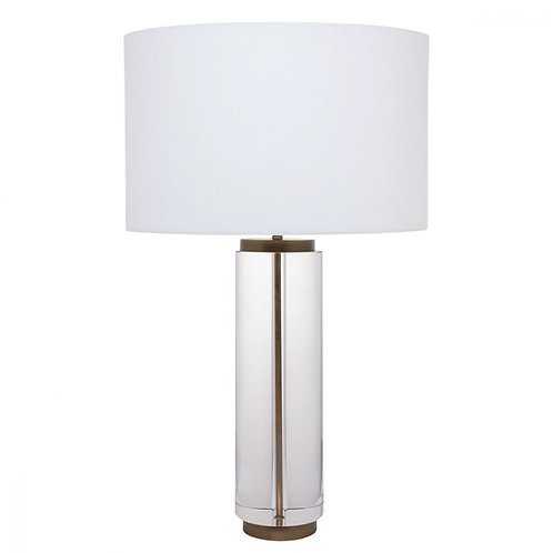 Forrester Table Lamp - Brass & Glass w' White Shade - 66cm High - RR$699