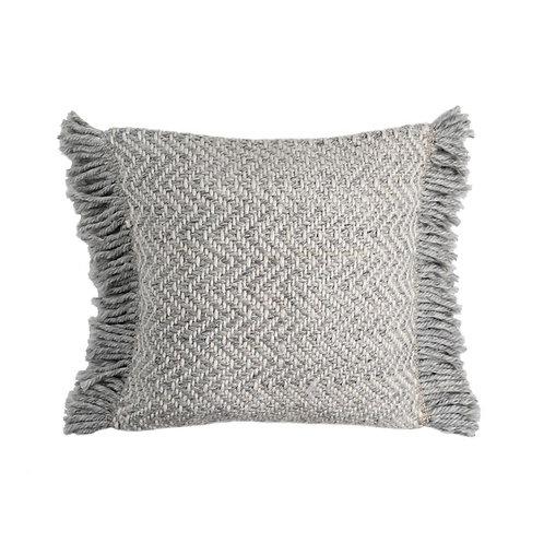 Avery Woven Tasseled Cushion - Ash - 50x50cm
