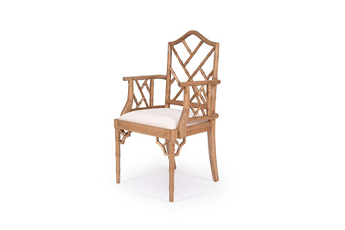 Chippendale Dining Armchair - Weathered Oak - rr $699
