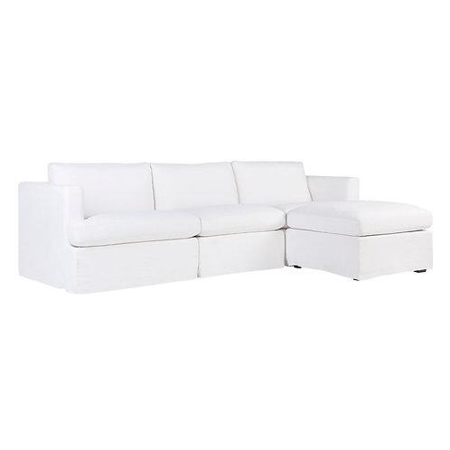 Birkshire Modula Sofa 'w Ottoman - White Linen - RR $5980